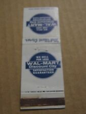 Vintage Wal-Mart Stores Wal-Mart  Discount City Empty Matchbook