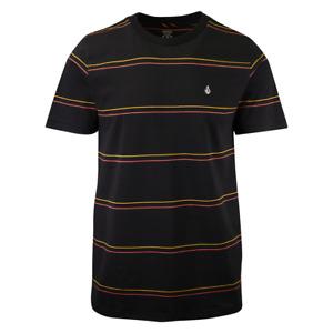 Volcom Men's Black Da Fino Stripe S/S T-Shirt (S33)