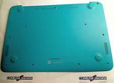 HP Chromebook14-x010wm Base Bottom Case W/Speakers & Feet *Turquoise* 32Y09TP603