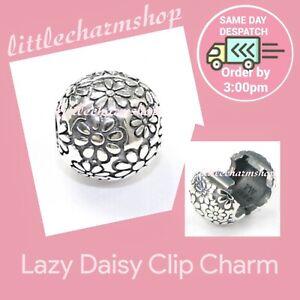 New Genuine PANDORA Sterling Silver Lazy Daisy Clip Charm  - 791013 RETIRED