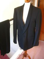 Boys Black Tuxedo Suit Dinner Jacket Trousers Shirt Dickie Bow 10 14 Years Ebay