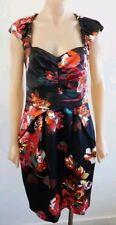 Cue Floral Satin Dress Size 6