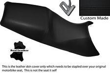Negro Stitch Personalizado Para Bmw F 650 Cs 01-05 Doble Cuero Funda De Asiento