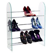 Niveau 3 Stockage de Chaussures Rack Verre Chrome - MS5000LGN_Chaussure