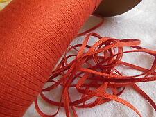 biais vintage ruban plat cordon brique/ rouille lacet corsage 10 mètre