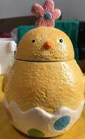 "Cracker Barrel Easter Eggs Ceramic Chick Egg Cookie Jar, 11"" Tall, 7"" Wide"