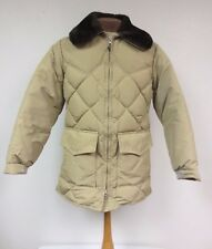 VINTAGE WALLS BLIZZARD PRUF QUILTED MEN'S FAUX FUR COLLAR COAT JACKET SMALL