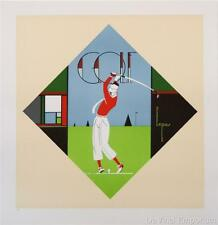 Golf Vintage Fashion Advertising Poster Fine Art Lithograph Charles Lepas S2