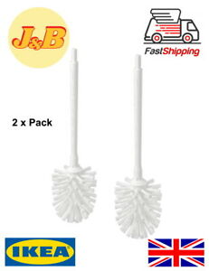 GREAT VALUE 2 x IKEA HEJAREN Replacement Toilet Brushes