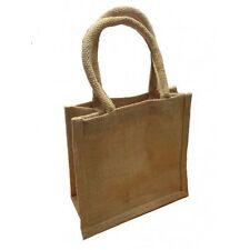 More details for plain laminated jute bags 20 x 20 x 10cm