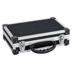 Werkzeugkoffer Alukoffer Alurahmenkoffer Box Aufbewahrung 33,5x10x25,5cm Schwarz