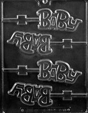 BABY LOLLY POP MOLD chocolate candy favors baby shower it's a boy girl molds