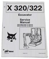 Bobcat 320, 322 Compact Excavator Service Manual Shop Repair Book 3 PN # 6724910