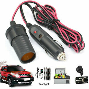 Car Cigarette Cigar Lighter 12V Extension Cable Adapter Sockets Charger Lead