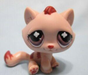 Littlest Pet Shop Tabby Cat Monopoly Mauve Cross No Number Authentic LPS