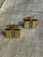 Men's Cufflinks Jewelry Xu-30 Vintage Gold Tone Silver Chain