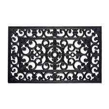 DII Modern Indoor/Outdoor Easy Clean Rubber Entry Way Doormat For Patio, Front x