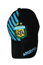 ARGENTINA BLACK WITH BLUE STRIPES AFA LOGO FIFA WORLD CUP FLEXFIT HAT CAP .. NEW