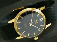 VINTAGE HMT SONA WINDING INDIAN MEN'S GOLD PLATED WATCH 375-a187828-1