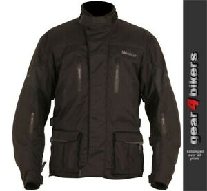 Weise Dolomite Black Textile Motorcycle Jacket Mens Scooter Commuter ALL SIZES