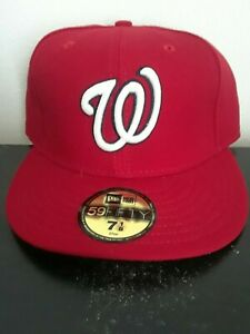 IWashington Nationals fitted home cap, Brand New by New Era 7 3/4