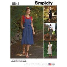 Simplicity Sewing Pattern 8641 Misses 16-24 Dress Pinafore Drawstring Back