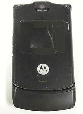 Motorola Razr / Razor V3 - Black ( At&T ) Flip Phone - Read / Silver Back Plate