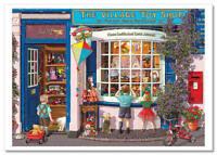 Little Kids in Village Toy Shop by Steve Read Russian Modern Postcard