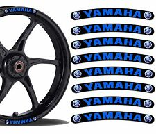 8 YAMAHA WHEEL RIM VINYL STICKERS STRIPES MOTO CAR BIKE MOTORCYCLE TUNING R17