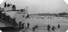 6x4 Photo ww73A Normandy Juno Nan White LCI 262 9th Canadian Inf Brig M