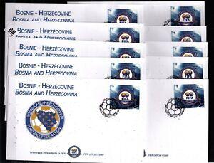 // BOSNIA 2004 - 10 FDC - SOCCER