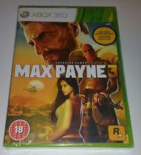 Max Payne 3 Xbox 360 New Sealed UK PAL Version Game Microsoft X360 pane pain