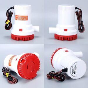 12v 1500GPH Boat Marine submersible Plumbing Electric Bilge Pump Amarine-made