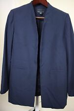 Cynthia Rowley Polyester Blend Navy Open Lined Pocketed Jacket Size - Large