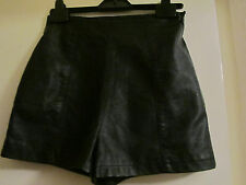 Black PU Topshop High Waist Hot Pants Shorts in Size 6 - mislabelled