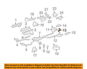 MERCEDES OEM 06-11 ML350 3.5L-V6 Exhaust-Bracket Left 1644900137