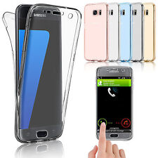 US 360° Crystal Clear Full Body Protective Gel TPU Case Cover For Samsung Galaxy