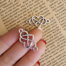 10x Tibetan Silver Charms INFINITY HEART FOREVER Connectors Pendant 12*18mm