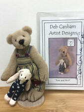 """DEB CANHAM, 1996 COUNTRY COLLECTION 3.5"""" TEDDY BEAR- TOM and MR P (LE#1788/3000)"""