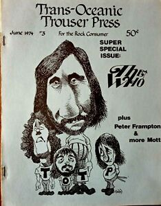 Trouser Press - Issue 3 1974. US Rock Fanzine. Minty. The Who etc.