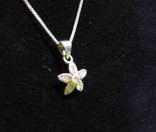 Lovely sterling and crystal star/flower pendant necklace