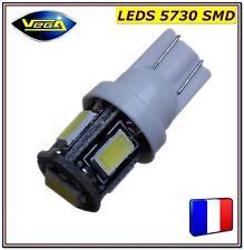 1 Ampoule T10 W5W 5 leds 5730 SMD blanc effet xénon 12V DC