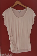 NWT Standard James Perse Designer Lt. Pink Side Ruched Shirt Knit Top 2 M $95