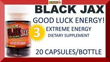 3 BLACK JAX BY STACKER2 2 GOOD LUCK EXTREME ENERGY 20 CAPSULES (3 BOTTLES) = 60