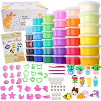 36 Colors Air Dry Clay Safety Ultra Light DIY Modeling Magic Clay with Tools NEW