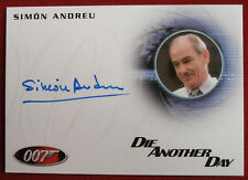 JAMES BOND - DIE ANOTHER DAY - SIMON ANDREU as Dr Alvarez - AUTOGRAPH CARD A181