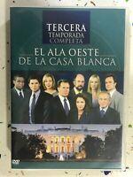 EL ALA OESTE DE LA CASA BLANCA DVD TERCERA 3ª TEMPORADA 3 ESPAÑOL INGLES 3T