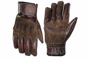 Fuel Rodeo Short Motorbike Motorcycle Gloves - Brown