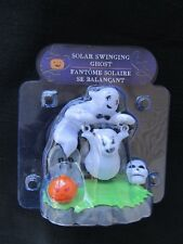 New Halloween Solar-Powered Set Of 2 ~ Swinging Witch & Swinging Ghost