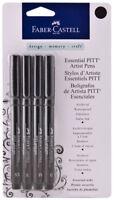 Faber Castell Essential PITT Artist Pens 4 Nibs Tips Lightfast Archival